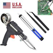 Manual Soldering Gun Electric Iron Automatic Soldering Machine Kit 110V Tool USA