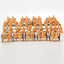 P4804B 48pcs All Seated  Figures O scale 1:48 Unpainted People Model Railway NEW