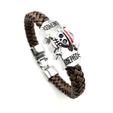 One Piece Anime Bracelet Death Skull Flag Weave Bracelet Cosplay Bangle