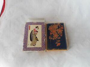 BIJINGA UKIYOE JAPANESE PLAYING CARDS IN PLASTIC CASE