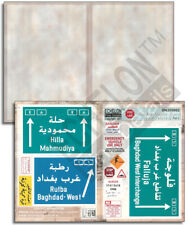 ECHELON FD SN355002 ,1/35 Decals for Road & Traffic Signs (OIF related) PART 2.