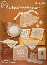 Net Darning Lace Embroidery Patterns Pillow Mat Placemat Apron Jayne Varrone