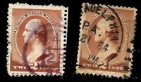 "Sc #210 Unusual ""4 25 85' Date CDS Year Date Cancel SON 2 Cent 1883 US Stamp9113"