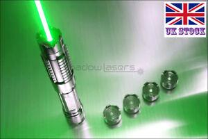 GX6-A 1MW Flashlight 520nm Green Laser Pointer Visible Lazer Pen 5 Star Caps UK