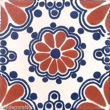 C#002) MEXICAN TILES CERAMIC HAND MADE SPANISH INFLUENCE TALAVERA MOSAIC ART