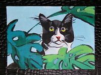 "Original art by Bastet ""Cat"" OOAK hand painted ACEO"