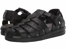 Mephisto Black Full Grain Leather Sam Sandals Men's Size 7 US 7145