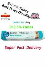 3× Benzoyl Peroxide Gel 2.5% -Treatment for Acne&Blemishes Spots 30gm Uk Seller
