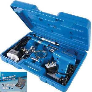 Silverline 100W Soldering Gun Iron Kit Electronics Solder Welding Irons Tool