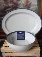 NIB ~DANSK ~2 PC SERVING SET~LEANO BLUE \u0026 SAND VEGETABLE PASTA BOWL & Dansk Banded Stoneware Dinnerware \u0026 Serving Dishes | eBay