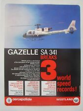 7/1971 PUB AEROSPATIALE WESTLAND SA 341 GAZELLE 3 WORLD SPEED RECORDS AD