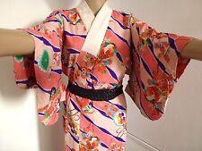 VINTAGE AUTENTICO giapponese jyuban per Kimono, per le donne, colori misti (h699)