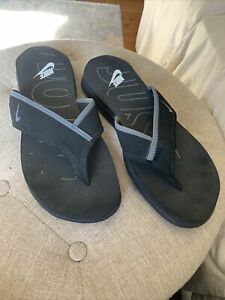 Nike Thong Flip Flops Sandals Black/gray Men's Size 11