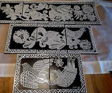 CAPRON – Rare Bel Ensemble de céramiques de Vallauris comprenant 9 carreaux