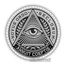 2 x ALL SEEING EYE OF PROVIDENCE STICKERS CAR BIKE HELMET LAPTOP 100mm x 70mm