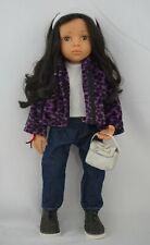 "19"" Gotz doll Happy kidz Luisa black hair and hazel eyes"