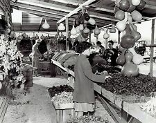 1941 Vintage Photo woman customer shopping at Gourd Ranch in Downey California