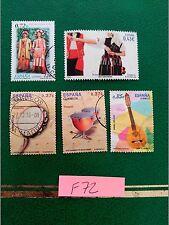 sellos españa usados sellos españa usados instrumentos musicales danzas populare