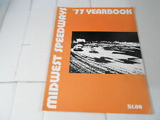 #MISC-2564 CAR RACING YEARBOOK - 1977 MIDWEST SPEEDWAYS