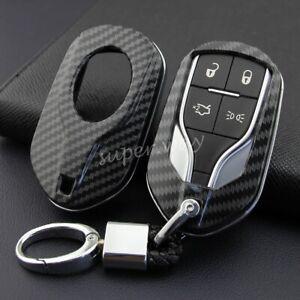 For Maserati Ghibli/Levante/Quattroporte Carbon Fiber Hard Shell Key Chain Cover