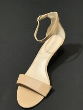 Nine West Women's Leisa Natural Leather Ankle Strap Heels Size US 8 M