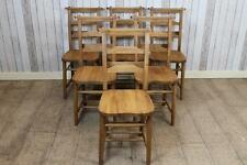 Solid Oak Dining Chairs Antique Style Chapel Church With Bar Back Design