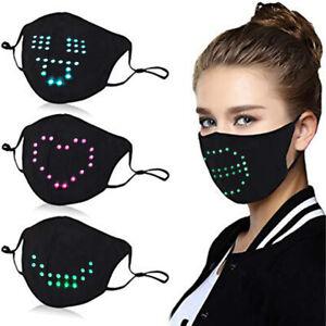 Voice Activated LED Face Mask Imitates Lips Speaking-Animation Program Commands