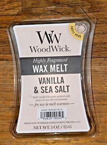 WoodWick 3oz Wax Melts * Free Shipping ~Vanilla & Sea Salt
