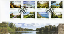 Jersey 2018 FDC Seasons Spring SEPAC 8v Cover Flowers Nature Tourism Stamps