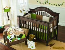 Baby Boys 9 Pieces Cotton Nursery Bedding Crib Cot Sets-- Monkey Animals
