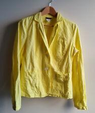 J Crew Women's Linen Cotton Blazer Jacket, Unlined, Yellow, Solid, Size 8