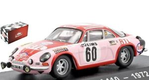 Alpine Renault A110 No.60 Rally Monte Carlo 1972 ( P. Moss - L.Crelin) 1:43