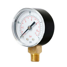 Air Water Pressure Gauge 1/4 BSP Manometer Y504 0-160psi Center Back Mount