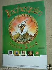 INCHEQUIN CELTIC ROCK GIG CONCERT POSTER ON THE ROCKY ROAD MINT 2002 RARE GEM !