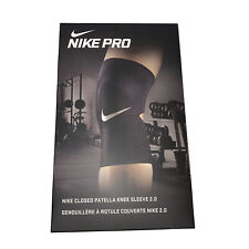 NIKE Pro Closed Patella Knee Sleeve 2.0 Adult Size L Black Compression