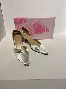 ladies shoes size 4 Designer Pink By Paradox Kitten Heels Diamanté Wedding shoe