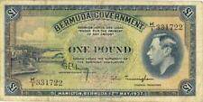 Bermuda 1 Pound Currency Banknote 1937