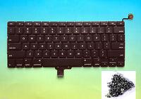 "NEW US KEYBOARD - Apple MacBook Pro 13"" Unibody A1278 2009 2010 2011 2012 +Screw"
