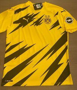 Puma Borussia Dortmund 2020/2021 Home Sponorless Futbol Soccer Mens Jersey