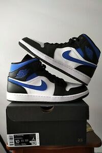 Nike Air Jordan 1 Mid 'Royal Blue/White' Racer Blue Size 10