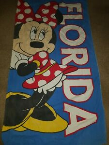 Mickey Minnie mouse Florida Beach Bath towel Excellent Condition