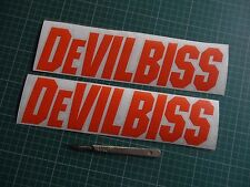 2x Devilbiss Medium Wall Decal Spray Gun Paint Booth Stickers Work Shop Body