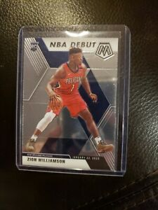 2019-20 Panini Mosaic Zion Williamson RC Rookie Card No. 269 NBA Debut