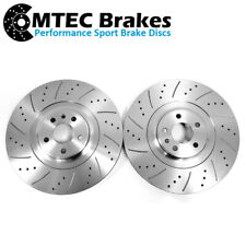 Audi SQ5 3.0 BiTDi 12-17 Drilled Grooved Front Brake Discs 380mm