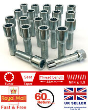 20 x Tuner bolts M14 x 1.5, extended 33mm for Aftermarket alloy wheels. VW