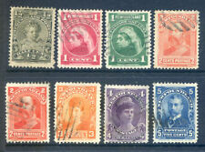 Canada Newfoundland 1897 to 1914 set 8 used (2018/10/16#07)