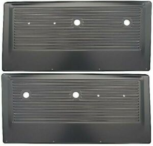 67-72 Chevy/GMC Pickup Truck Black Inner Interior Stamped Steel Door Panel PAIR