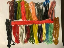 99 pc ASSORTMENT of BASS FISHING WORMS Lures Soft Plastic Baits Assorted Styles