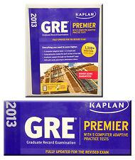 Kaplan - 2013 - GRE Premier - w/ 5 Online Practice Tests + SEALED DVD *NEW!