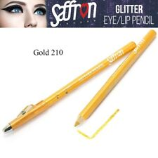 Saffron EyeShadow Eyeliner Glitter Lip Liner Pencil Pen Makeup Colour Gold